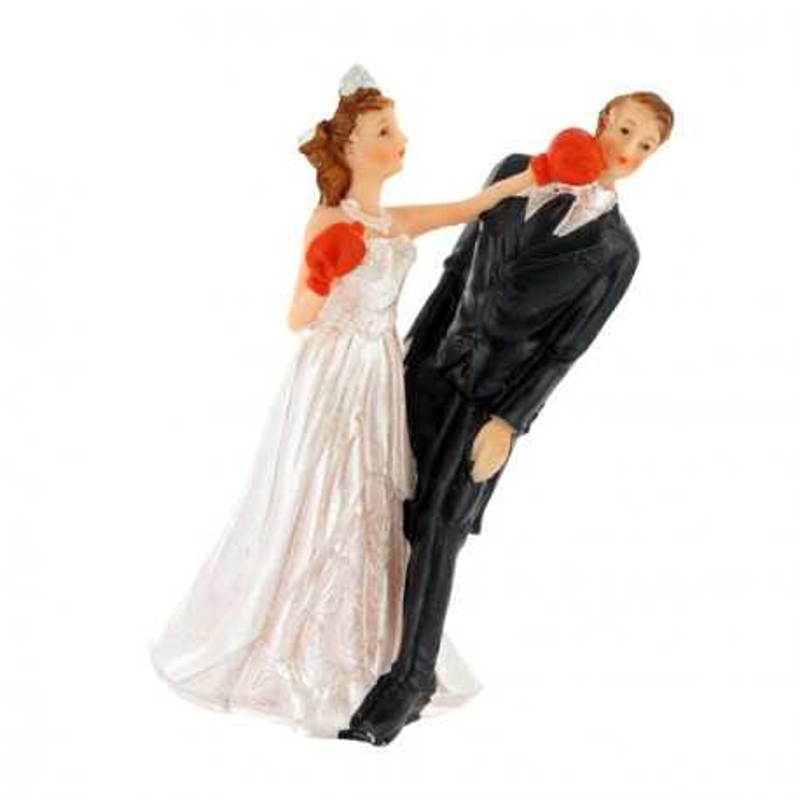 Couple de mariés Boxe Gatodéco