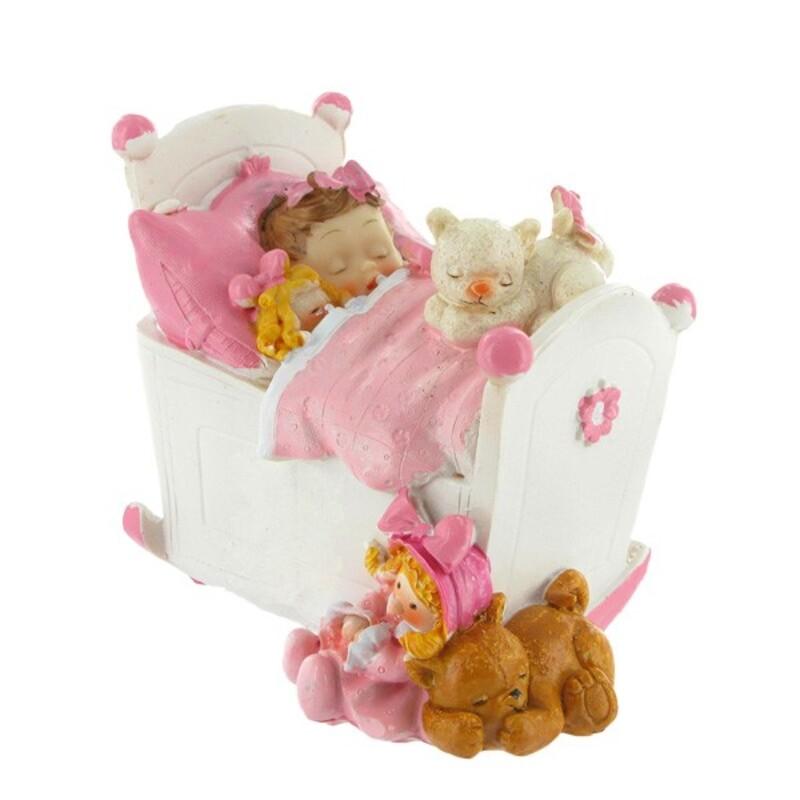 Bébé fille dans son lit Gatodéco
