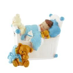 Bébé garçon dans son lit Gatodéco