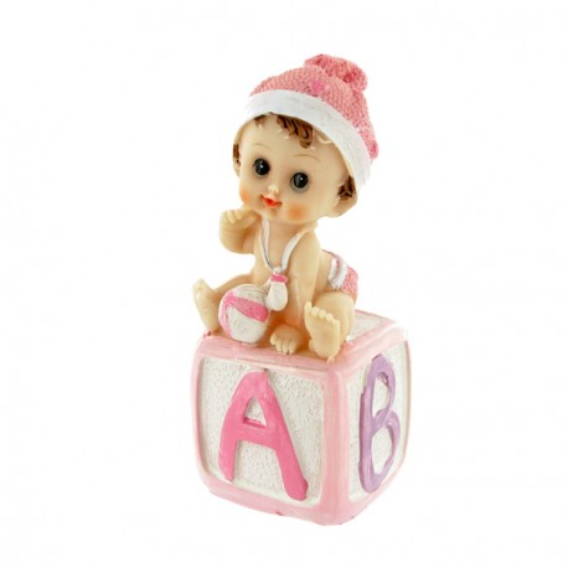 Bébé fille cube alphabet Gatodéco