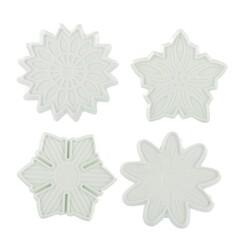 Découpoirs éjecteurs fleurs assorties Patisdécor (x4)