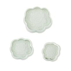 Découpoirs éjecteurs roses stylisées Patisdecor (x4)