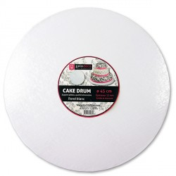 Carton rond blanc Patisdecor (pièce)