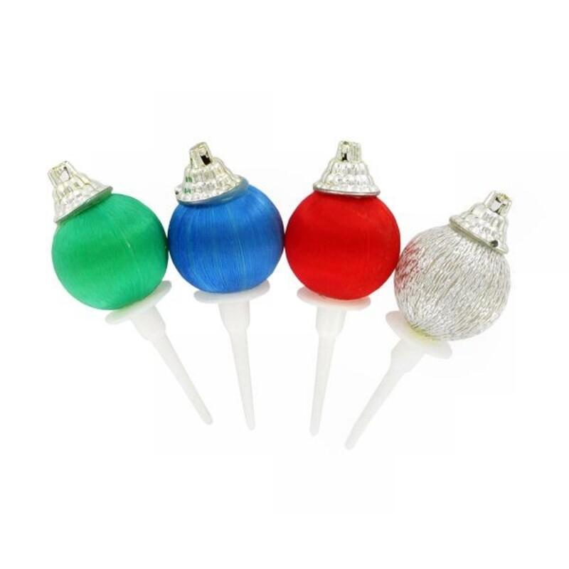 Boules de Noël sur piques (x72)