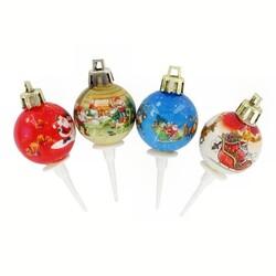 Boules de Noël rétro sur pique (x50)