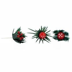 Pères Noël rouges en plastique (x72)