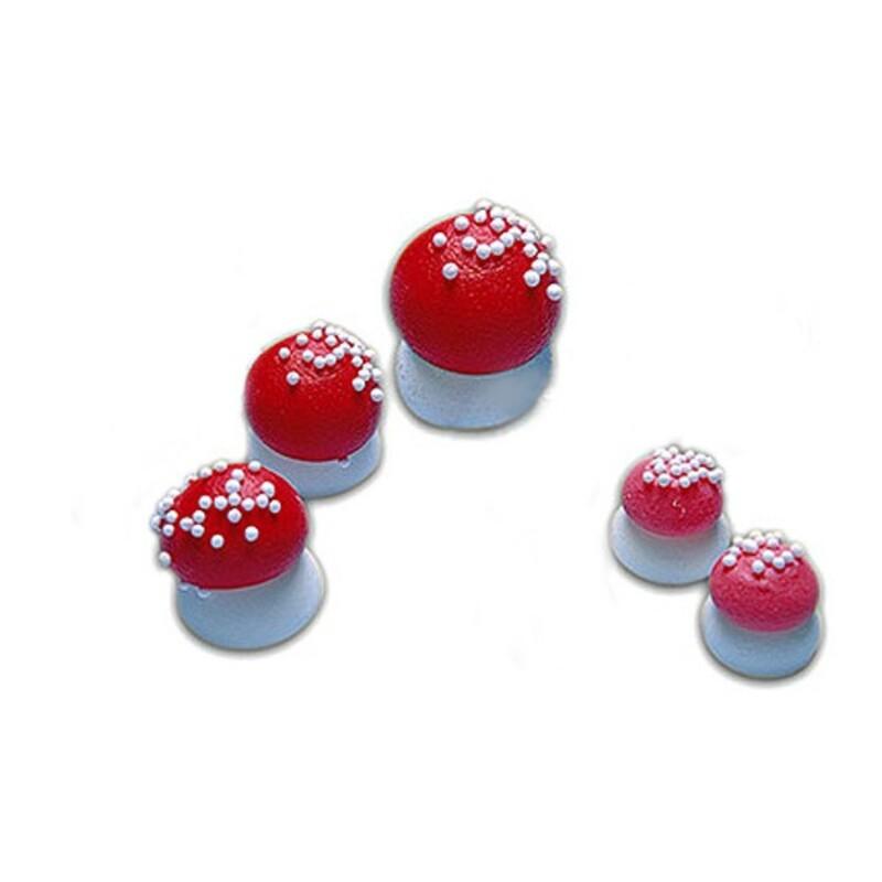 Champignon rouge en sucre 21mm (x180)