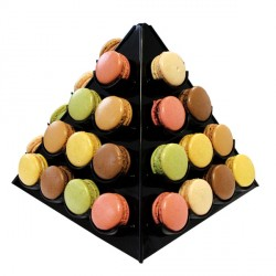 Pyramide à macarons noire Gatodéco