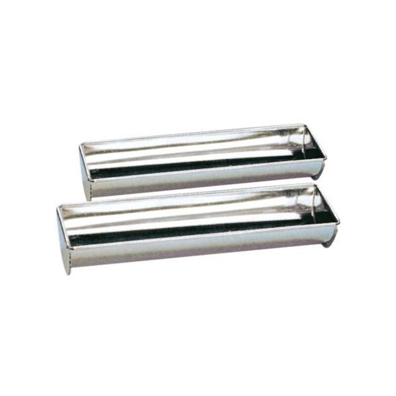 Gouttière à bûche fer blanc 50 cm