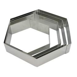 Hexagone à mousse inox ht 4,5 cm