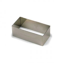 Nonnette Rectangle inox 12 x 6 cm