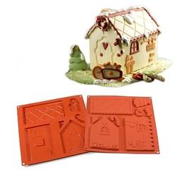 Moule silicone Maison 3D