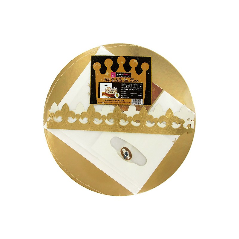 Kit galette des rois sac f ves couronnes gatod co for Gallet de decoration