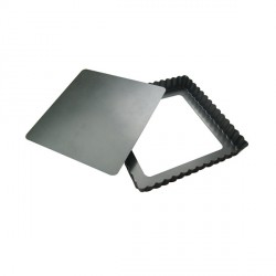 Moule à tarte carrée 23 cm à fond amovible