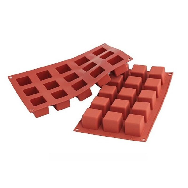 Moule silicone 15 petits cubes