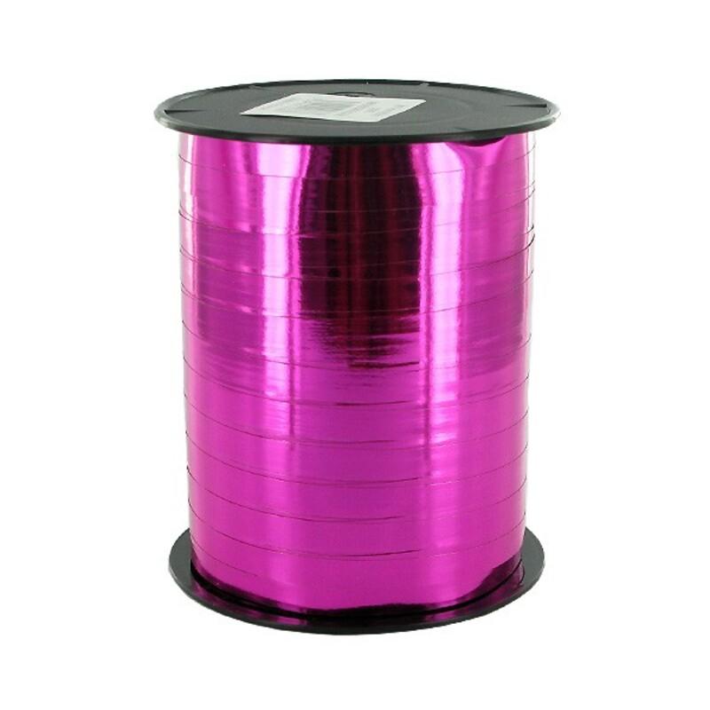 Bolduc miroir rose fuschsia 7mm (250 m)