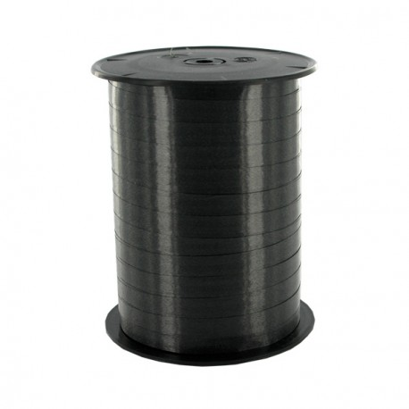 Bolduc satiné noir 7mm (500 m)