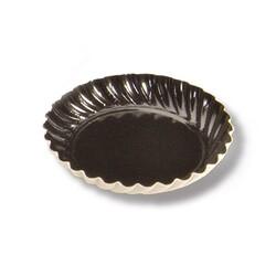 Mini assiette carton ronde noire 55 mm (x100)