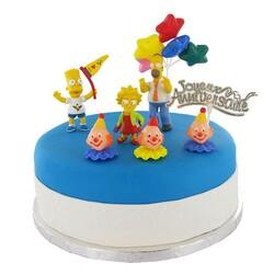 Décoration Gâteau anniversaire Simpsons