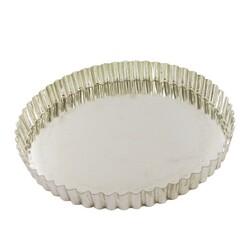 Moule à tarte cannelé fer blanc fond fixe