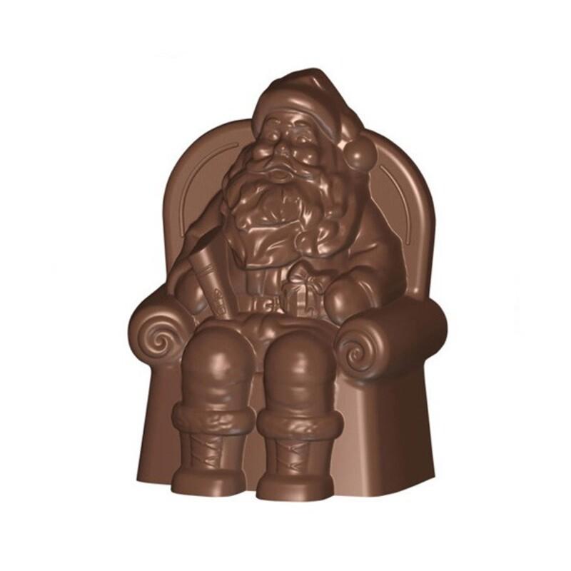 moule pere noel Moule chocolat sujet Père Noël assis dans son fauteuil 13 cm  moule pere noel