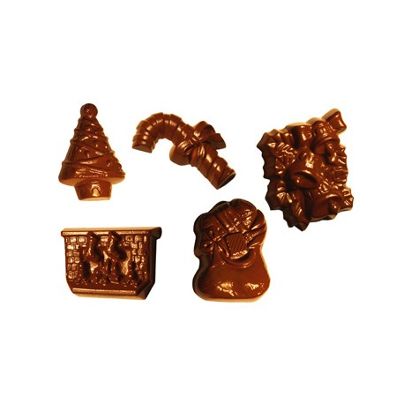 Moule chocolat Sujets de Noel assortis