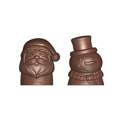 Moule chocolat bonhomme de neige et père Noël