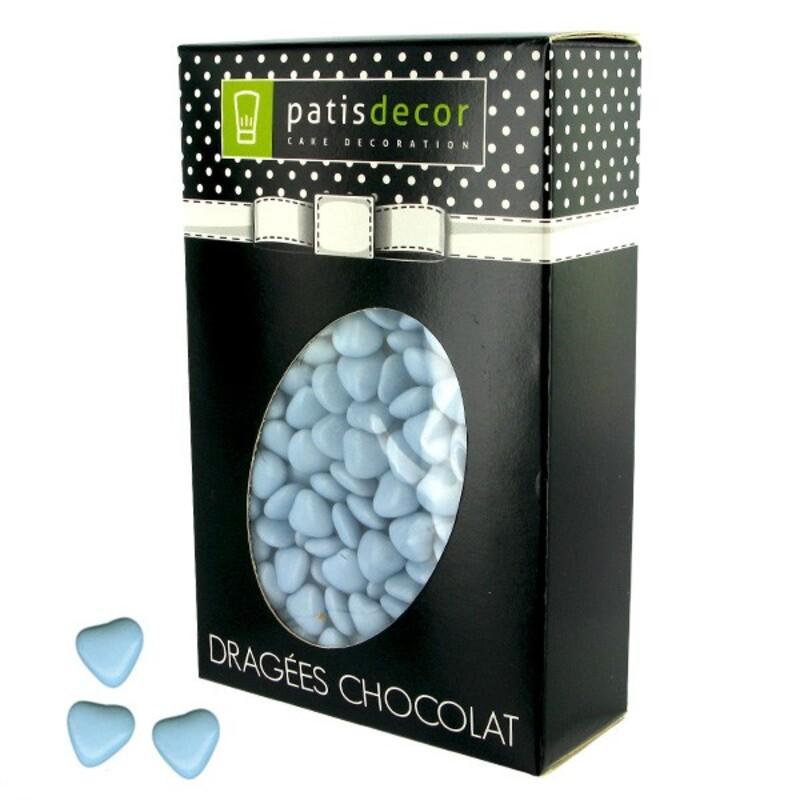 Mini-coeurs chocolat ciel Patisdécor 500 g