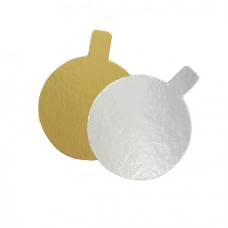 Rond carton Or / Argent individuel (x200)