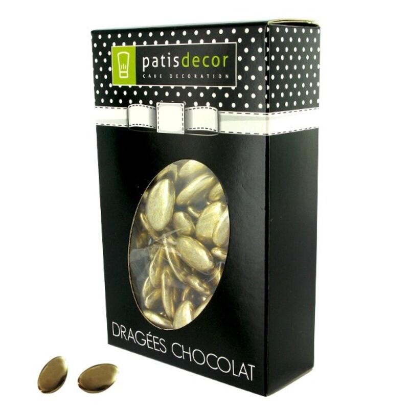 Dragées chocolat dorées Patisdécor 500 g