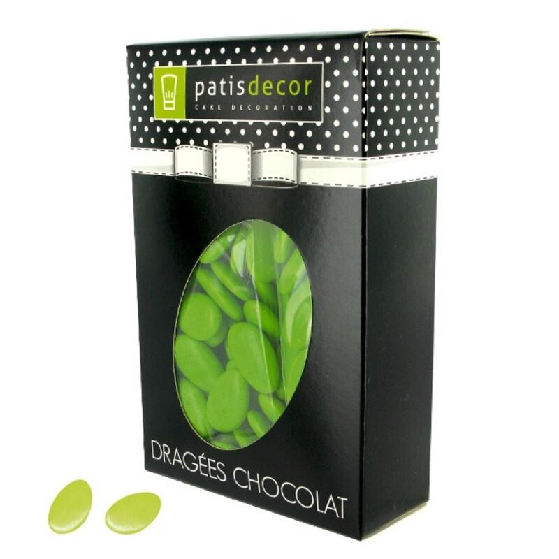 Dragées chocolat vert anis Patisdécor 500 g