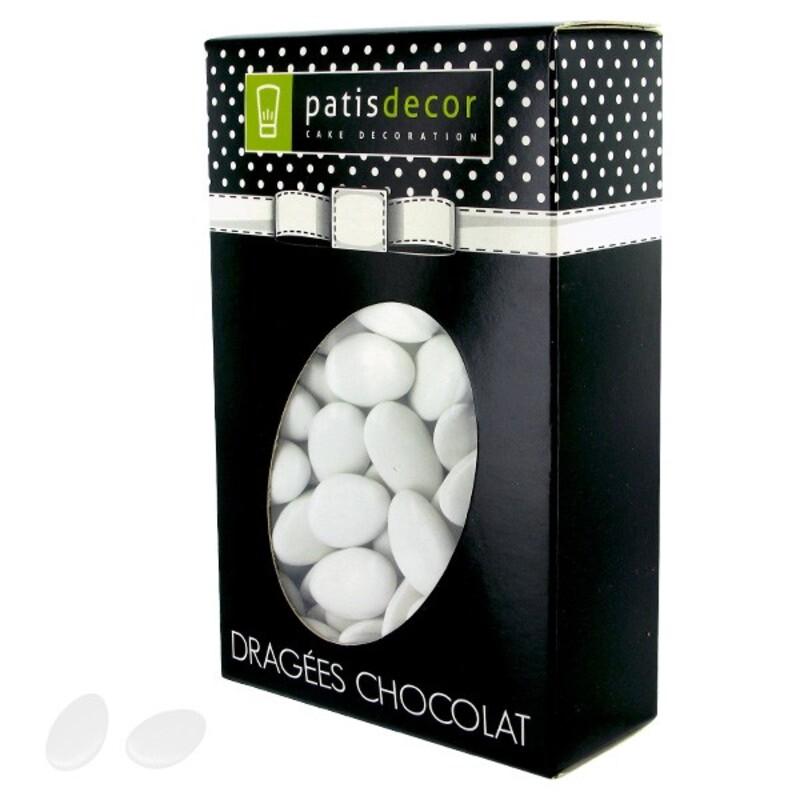 Dragées chocolat blanches Patisdécor 500 g