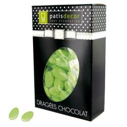 Dragées chocolat vert tilleul Patisdécor 500 g