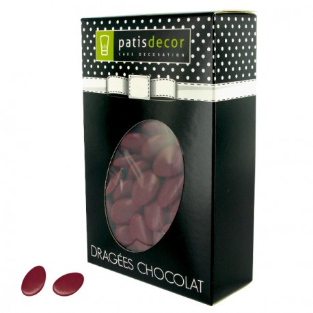 Dragées chocolat bordeaux Patisdécor 500 g