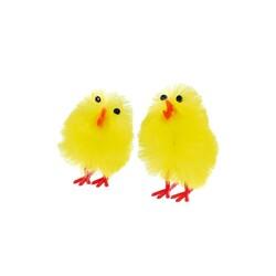 Poussins de pâques jaunes 33 mm (x8)