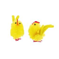 Poussin de pâques jaune à crête (x3)