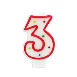 Bougie anniversaire chiffre Fiesta 3 Patisdécor
