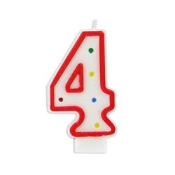 Bougie anniversaire chiffre Fiesta 4 Patisdécor