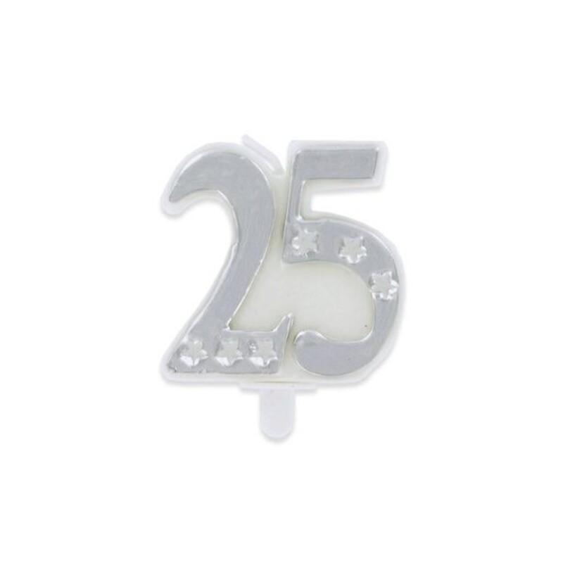 Bougie anniversaire 25 ans