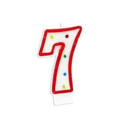 Bougie anniversaire chiffre Fiesta 7 Patisdécor