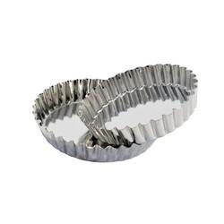 Moule à génois cannelé en fer blanc 10,5 cm (x12)