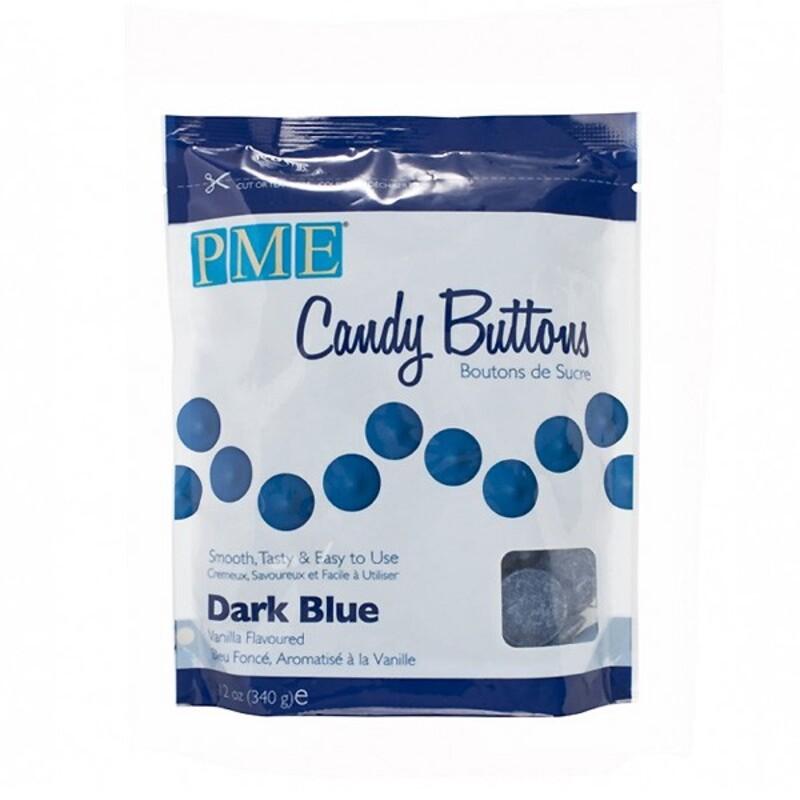 Candy Buttons bleu foncé 340 g