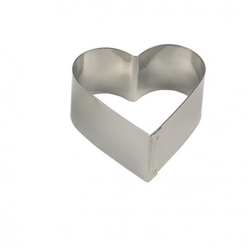 Nonnette coeur inox 65 x 30 mm