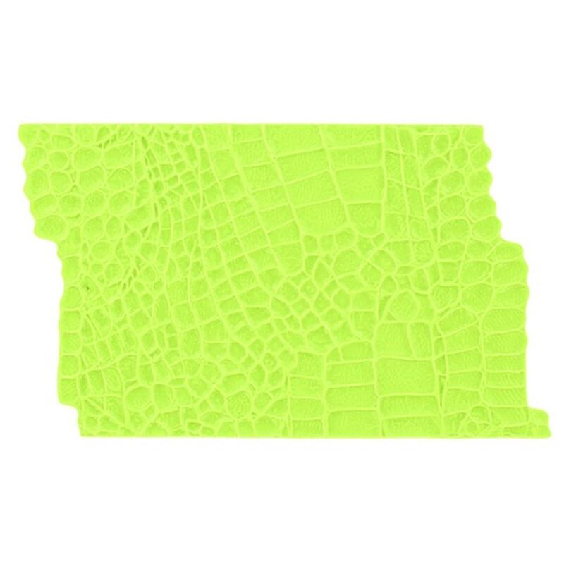 Moule silicone impression peau d'alligator