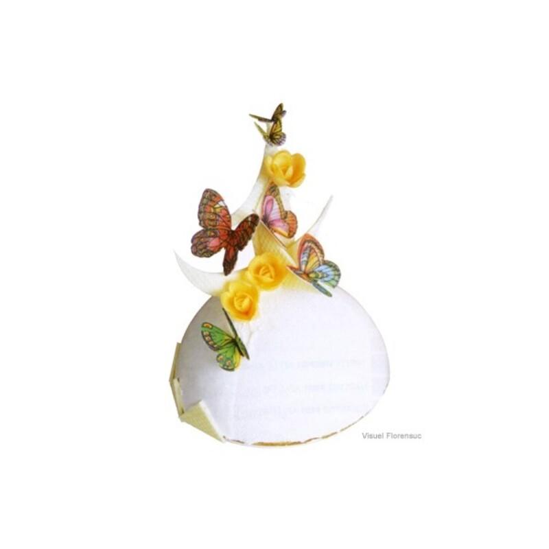 Décor azyme papillons assortis (x260)
