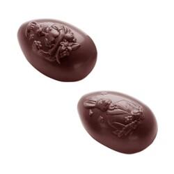 Moule oeuf en chocolat lapins taille 7 cm