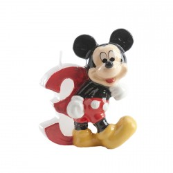 Bougie chiffre 3 Mickey