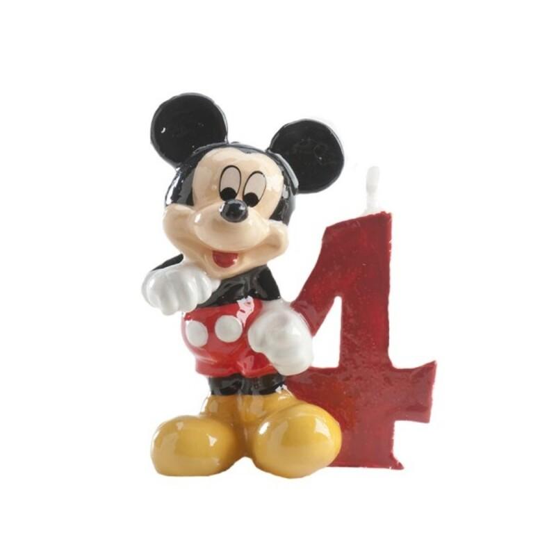 Bougie chiffre 4 Mickey
