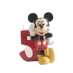 Bougie chiffre 5 Mickey