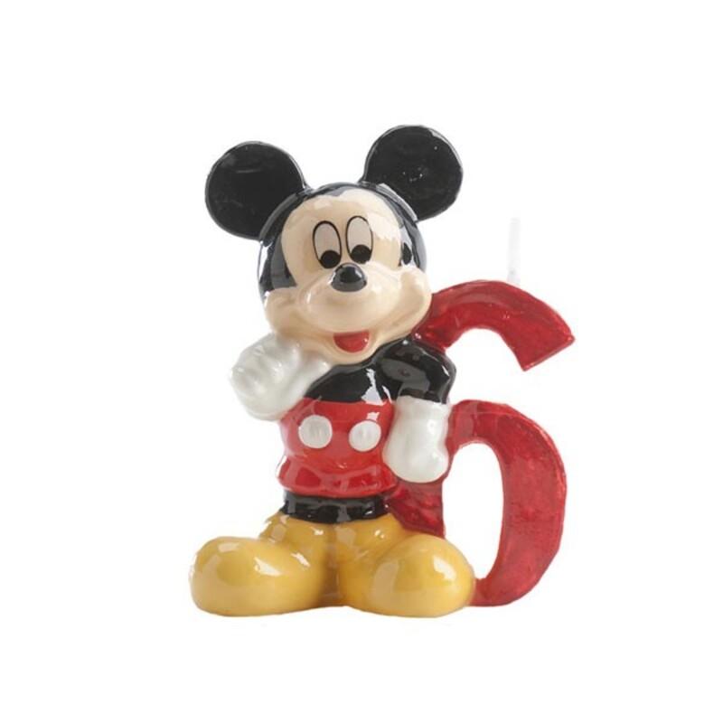 Bougie chiffre 6 Mickey